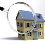 view of house through magnifying glass